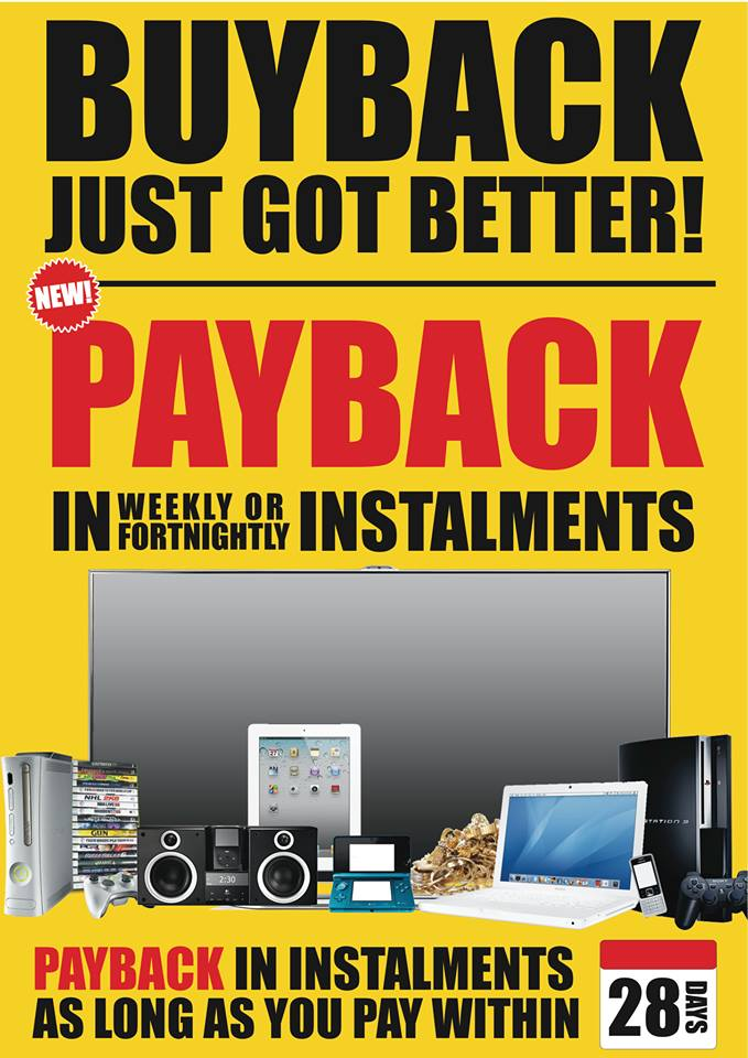 Industry First! Buyback payback instalments